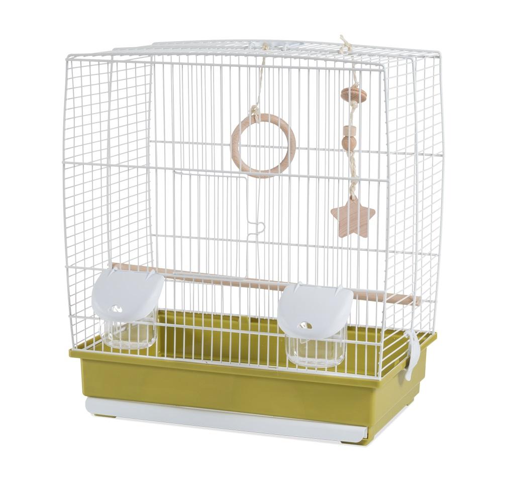 Клетка для птиц Voltrega (641) цвет белый/зеленый