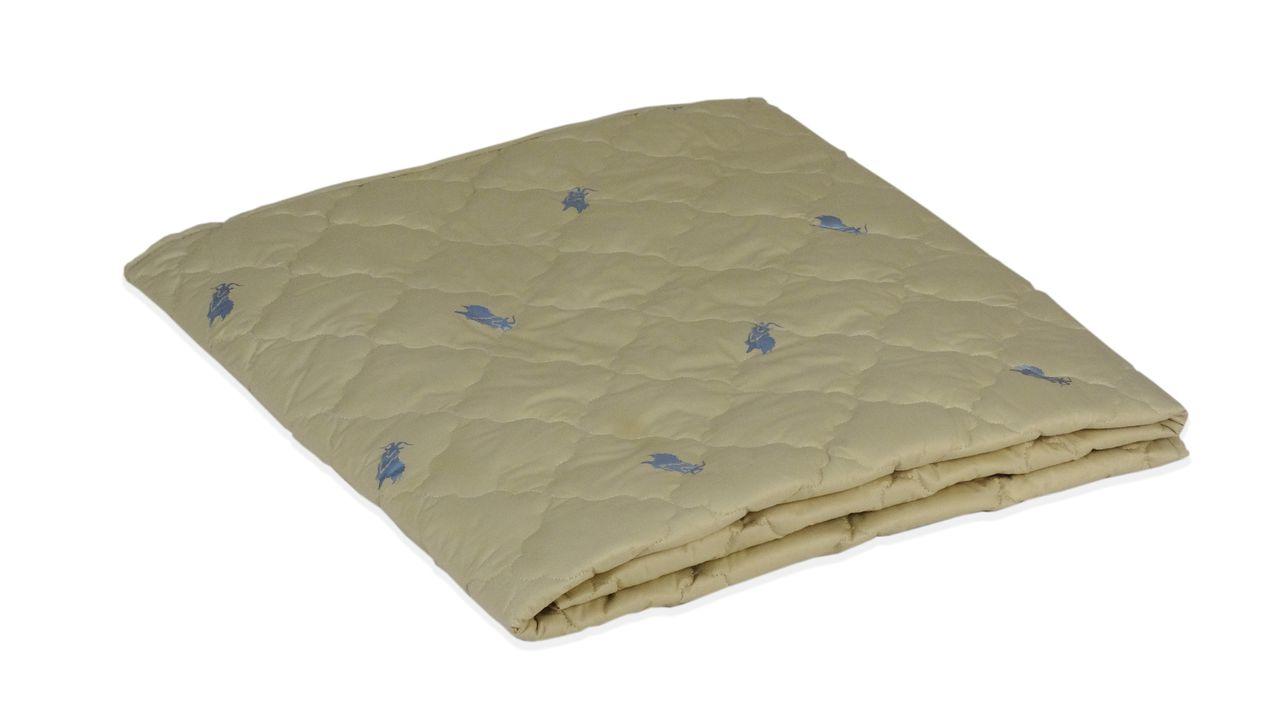 Одеяло облегченное МИ бежевое с принтом