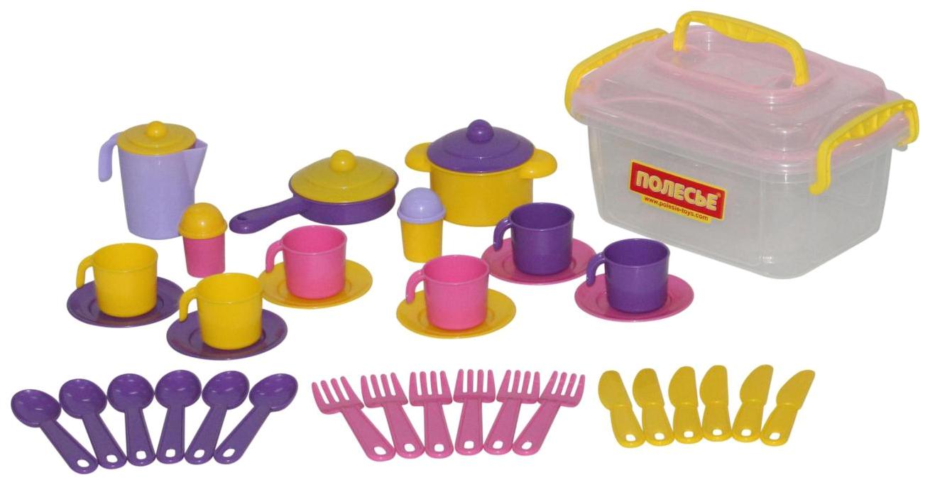 Набор Полесье детской посуды Настенька на
