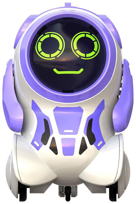 Купить Интерактивный робот Silverlit Покибот фиолетовый, круглый, Интерактивные мягкие игрушки