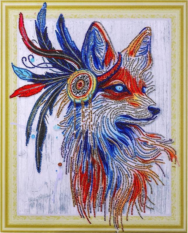 Звездная лиса- алмазная картина с фигурными стразами