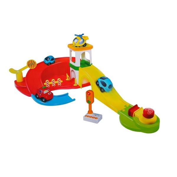 Купить Набор игровой Shenzhen Toys Парковка-автотрек со светофором и машинками, Машинки-трансформеры