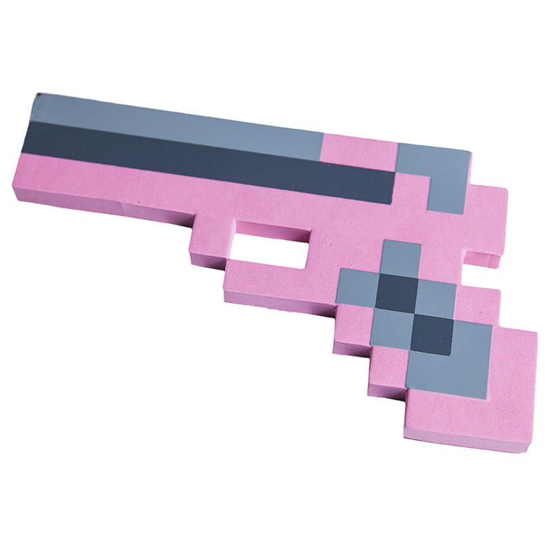 Купить Пистолет 8Бит Pixel Crew Розовый пиксельный 22см, Мечи, кинжалы и копья