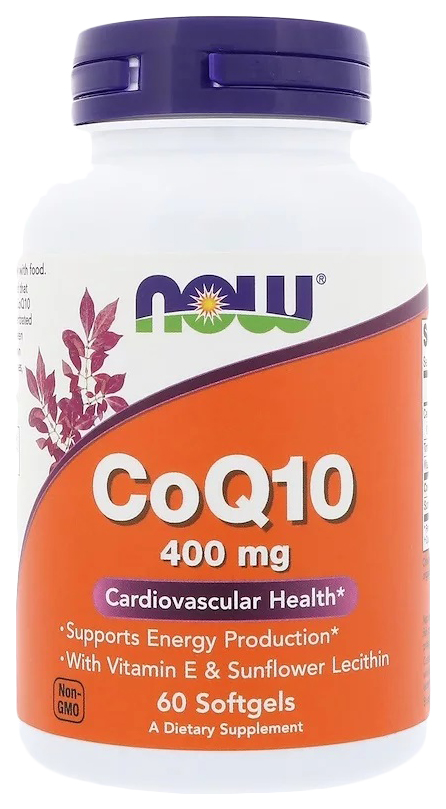 NOW CoQ10 400 мг капсулы 60 шт.