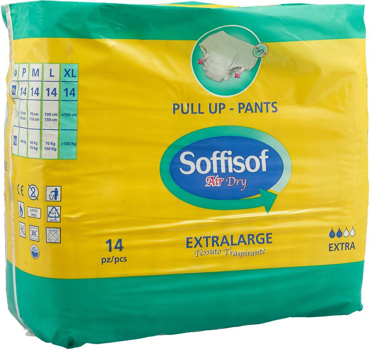 Купить Подгузники-трусики Soffisof р-р ХL 14 шт., Подгузники для взрослых