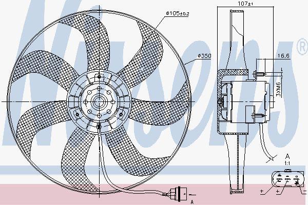 Вентилятор охлаждения двигателя NISSENS 85725
