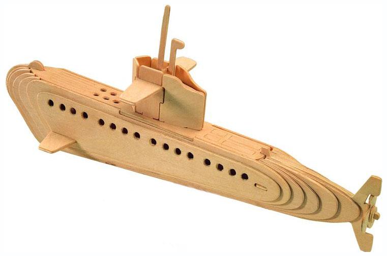 Купить Конструктор деревянный Wooden Toys Подводная лодка P042, Bondibon, Деревянные конструкторы