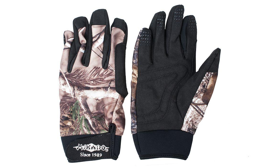 Перчатки мужские Mikado UMR 09, коричневые/бежевые/черные, L