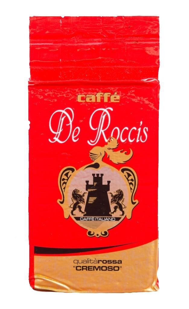 Кофе молотый De Roccis q rossa cremoso 250 г