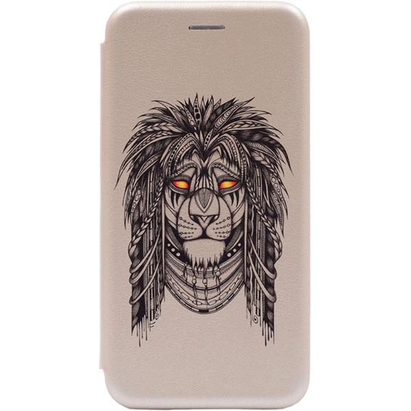 Чехол Gosso Cases для Apple iPhone 8/7/7S «Grand Leo» Gold