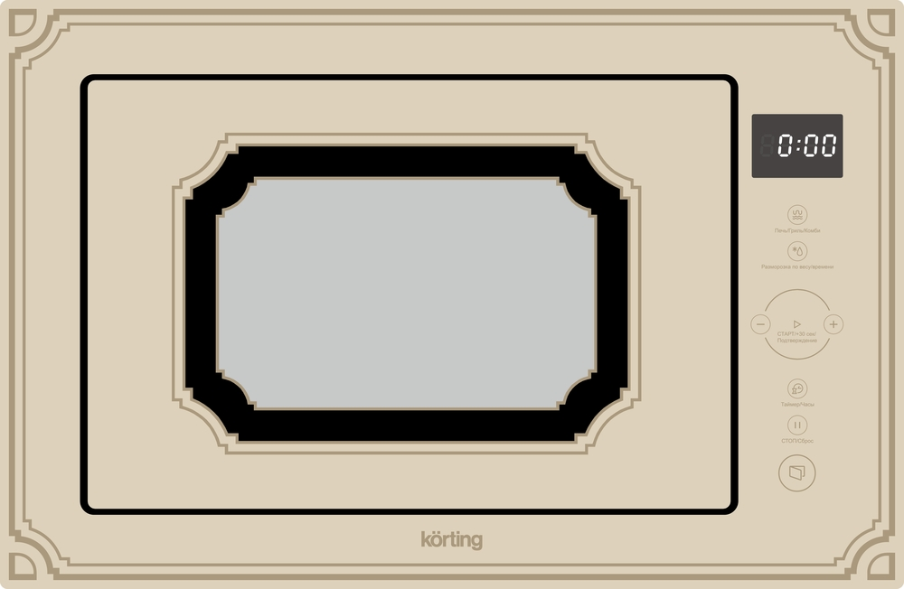 Встраиваемая микроволновая печь Korting KMI 825 RGB фото