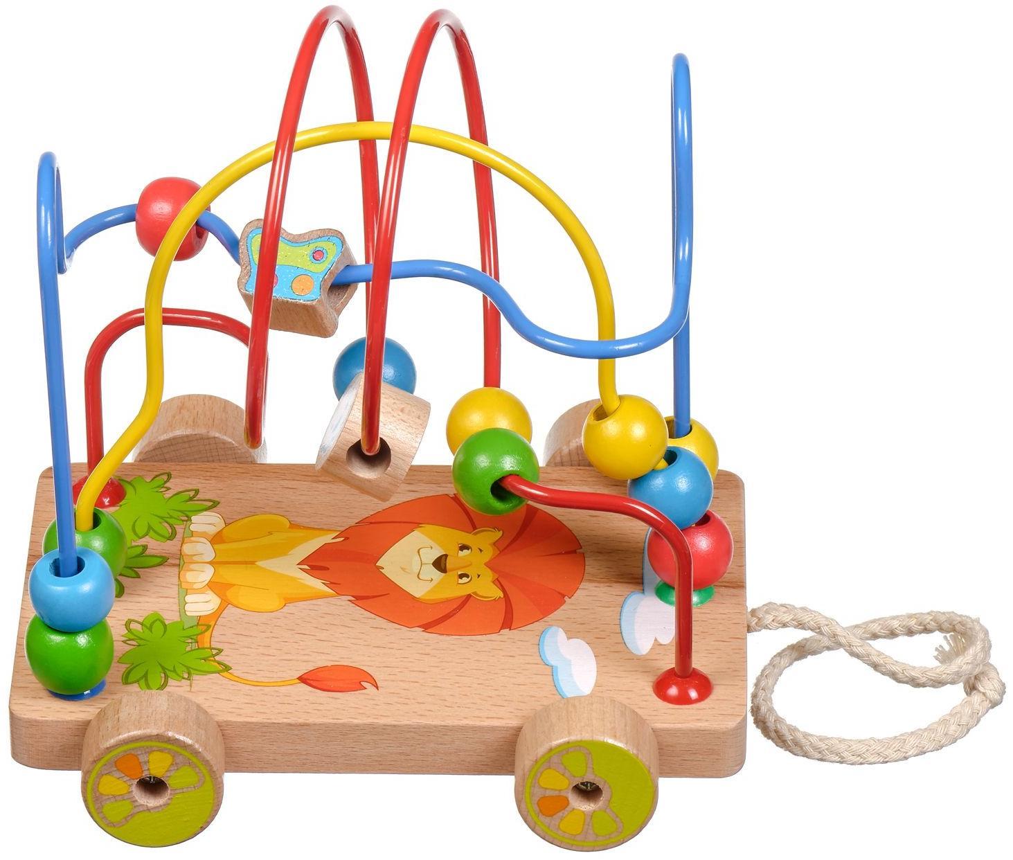 Развивающая игрушка МДИ Лабиринт-каталка Львенок Д011