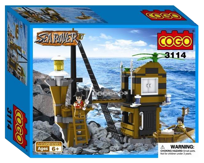 Конструктор Пираты - Пристань, 160 деталей Cogo
