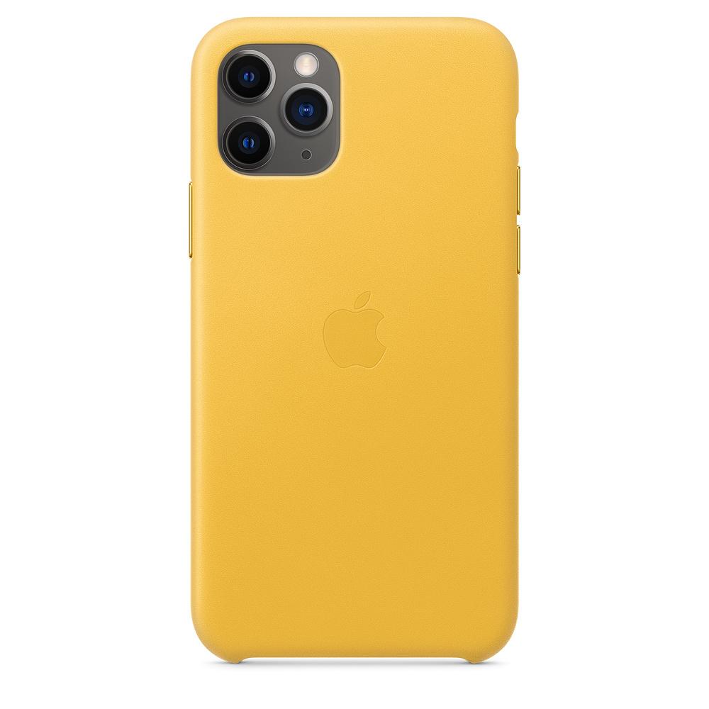 Чехол Apple для iPhone 11 Pro Leather Case - Meyer Lemon