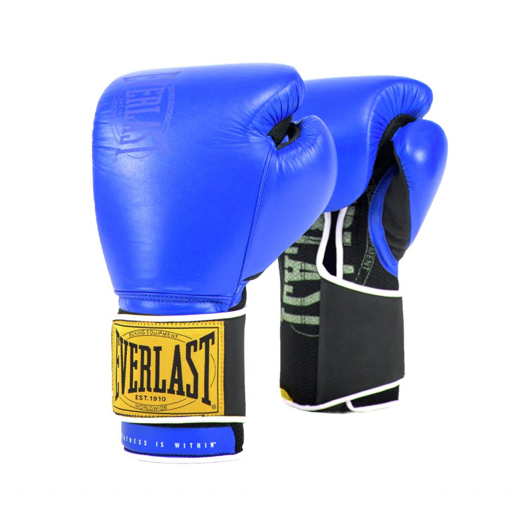 Боксерские перчатки тренировочные Everlast 1910 Classic синие