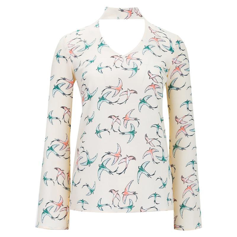 Блуза женская Audrey right бежевая L