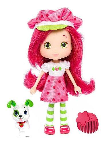 Купить Кукла Strawberry Shortcake Земляничка с питомцем, 15 см, Классические куклы
