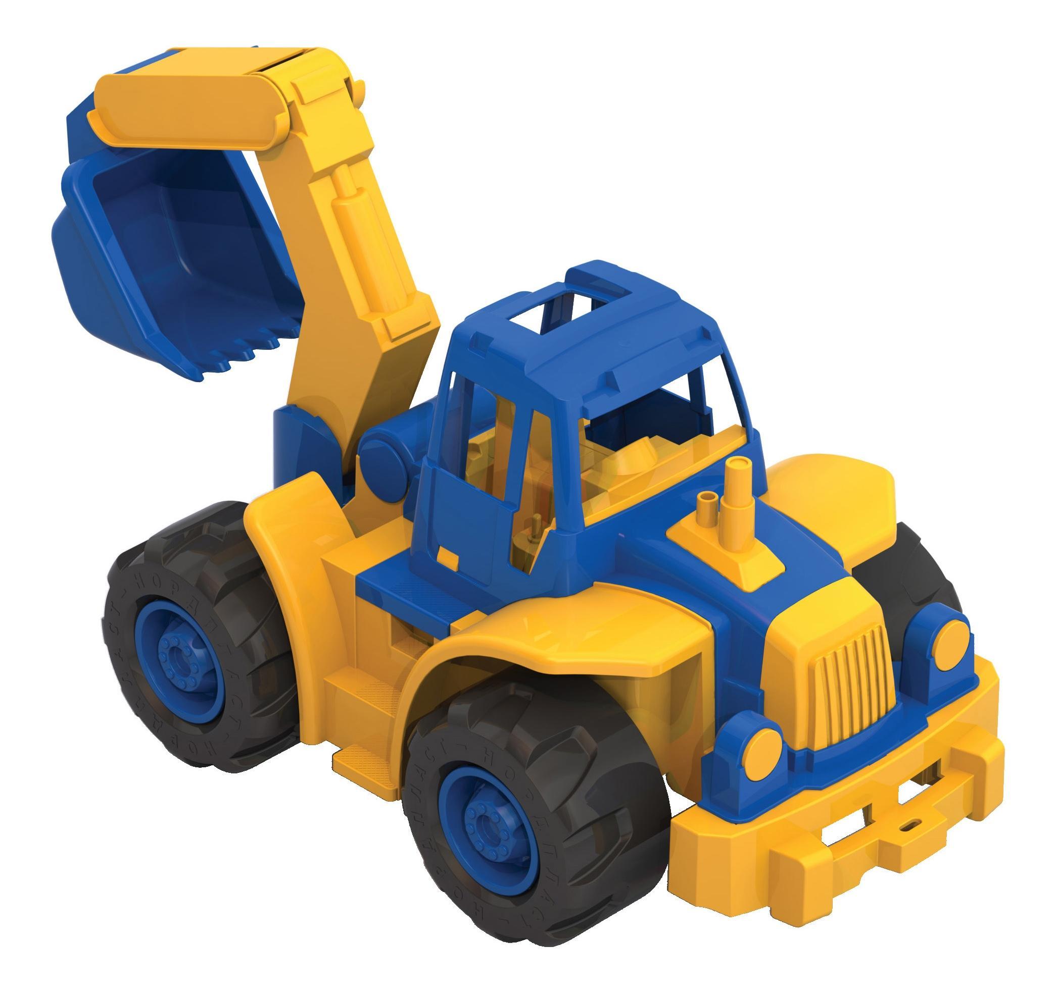 Купить 'Богатырь' мини с ковшом, Трактор Нордпласт Богатырь мини с ковшом, НОРДПЛАСТ,