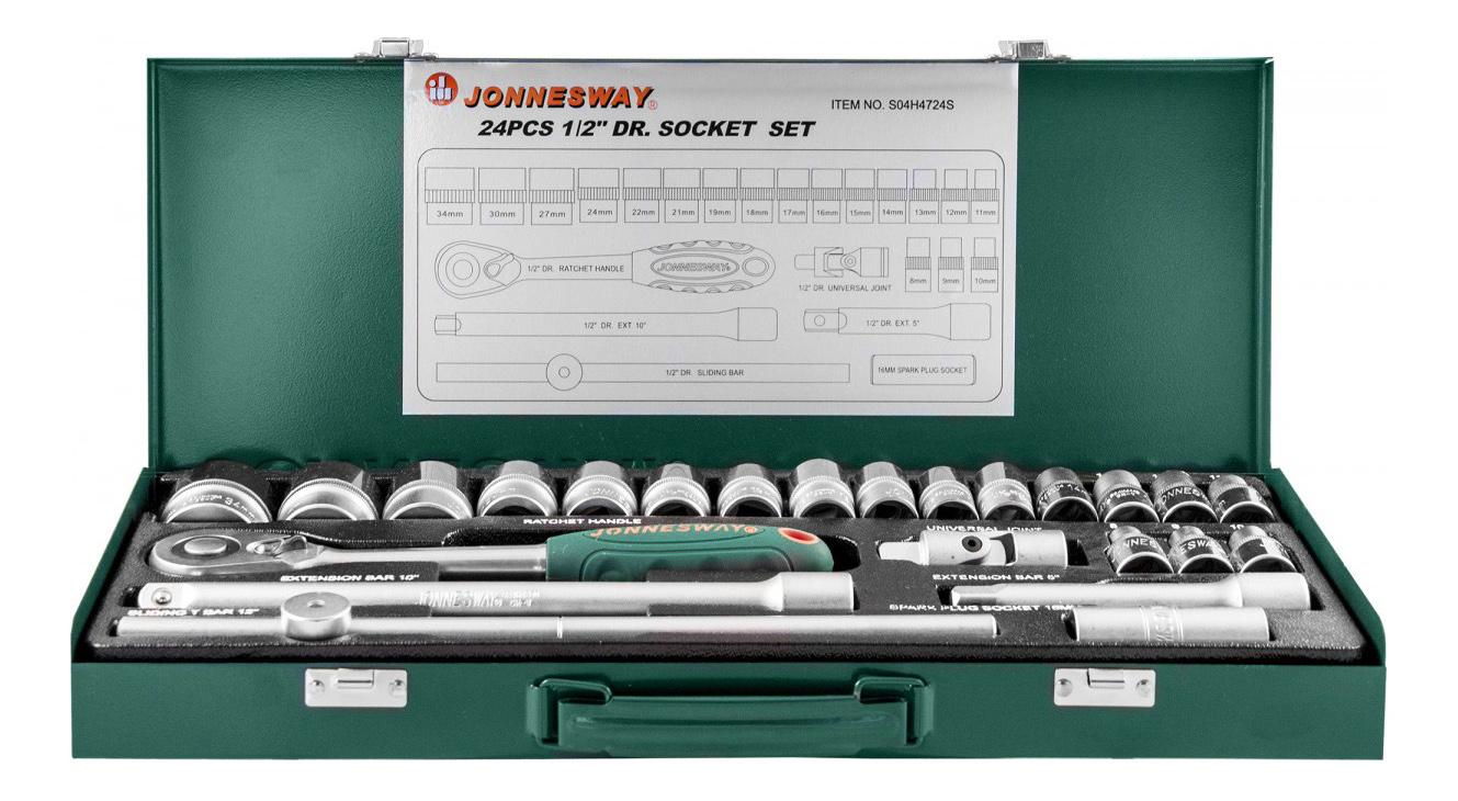 Набор столярно-слесарного инструмента JONNESWAY S04H4724S