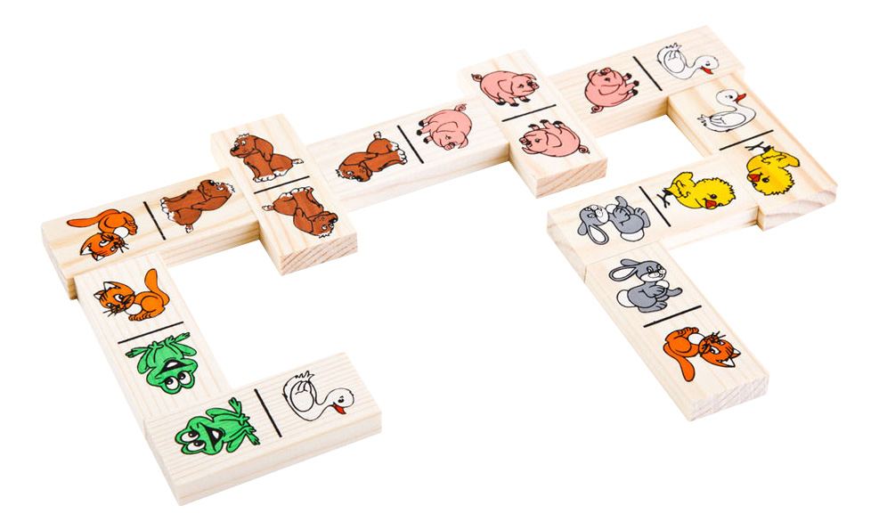 Купить Животные леса, Семейная настольная игра Томик домино животные леса, Семейные настольные игры