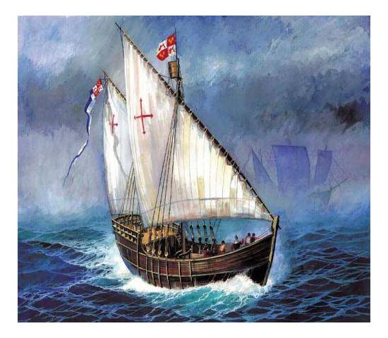 Модель для сборки Zvezda 1:100 Корабль Нинья