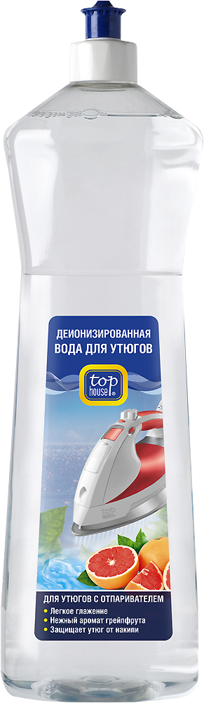 Вода для утюгов TOP HOUSE с ароматом