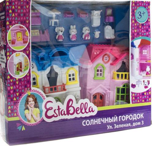 Домик EstaBella Солнечный городок с мебелью и жителями 62216