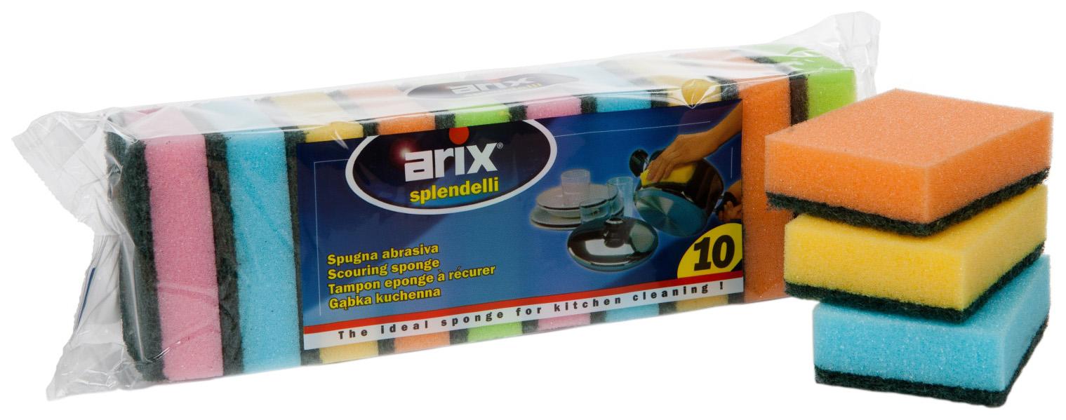 Губка для посуды Arix с фиброй