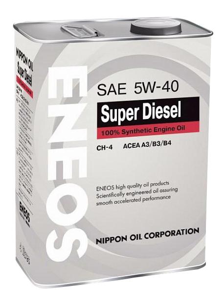 Моторное масло Eneos Super Diesel CH-4 5W-40 4л