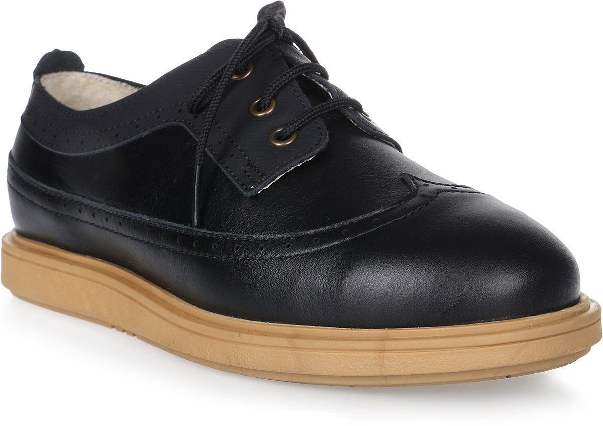 Купить Полуботинки детские 24008 р.32 кожа, твист черный, Tapiboo, Детские ботинки