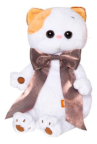 Купить Мягкая игрушка BUDI BASA LK24-003 Ли-Ли с атласным коричневым бантом 24 см,