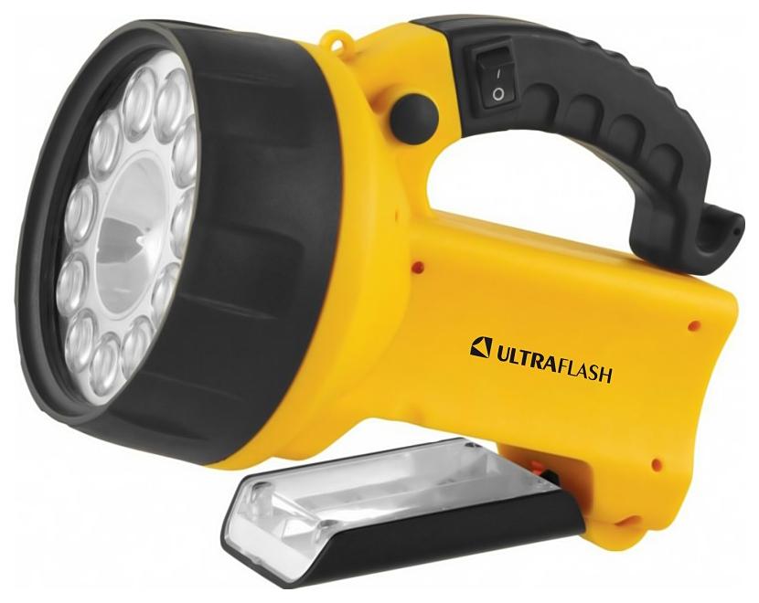 Туристический фонарь Camelion Ultraflash Akku Profi LEDUF3753LED желтый/черный, 3 режима