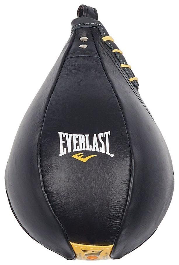 Боксерская груша Everlast Cow Leather черно желтая
