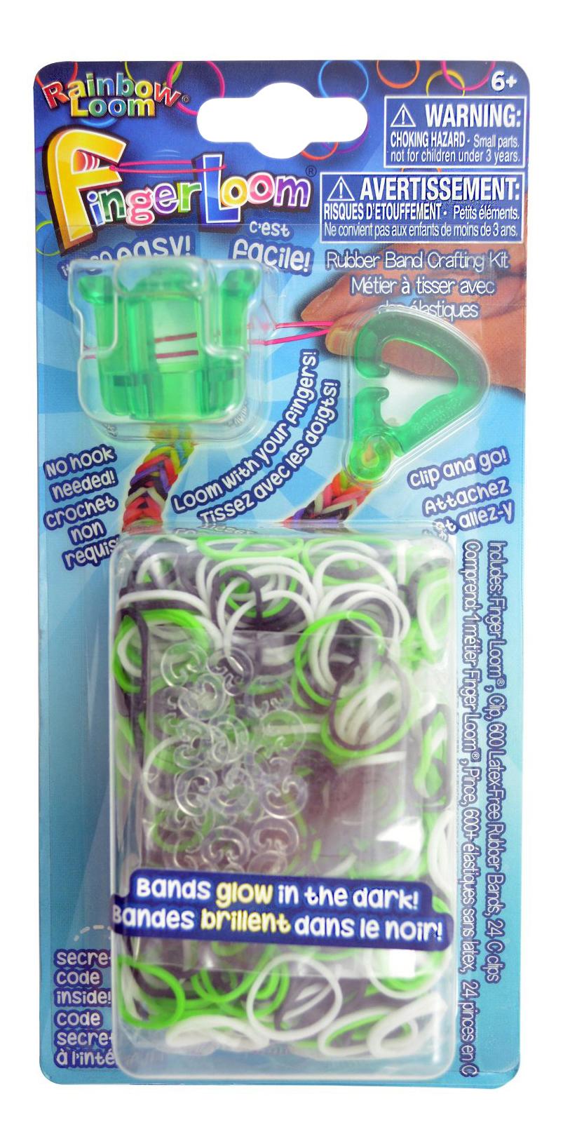Плетение из резинок Rainbow Loom Фингер Лум зеленый