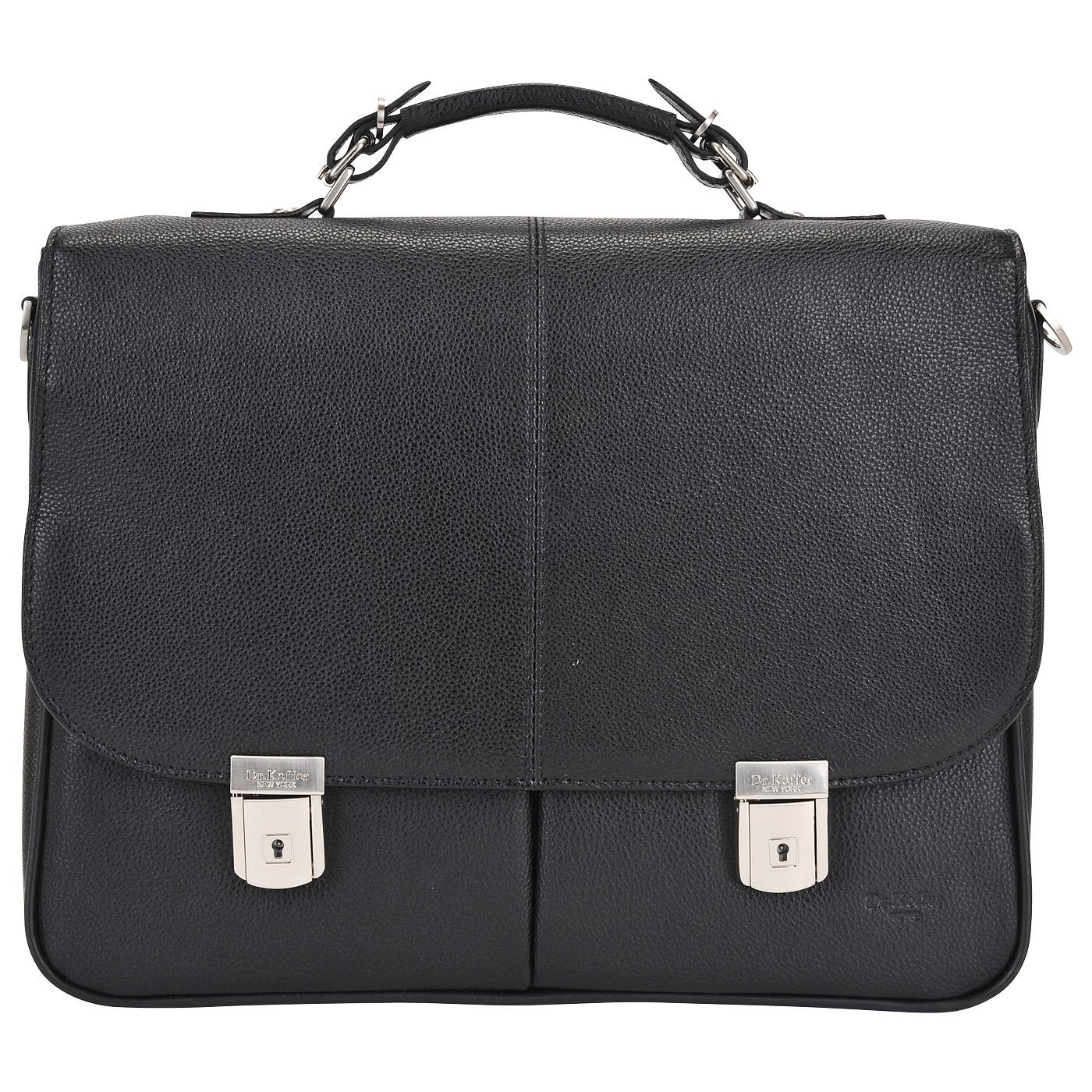 Портфель мужской кожаный Dr. Koffer B393160-02-04 черный фото