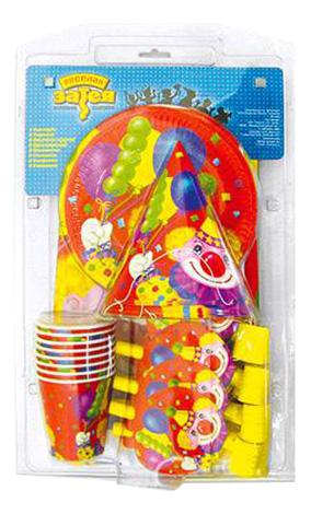 Набор детской посуды Веселая затея Клоун