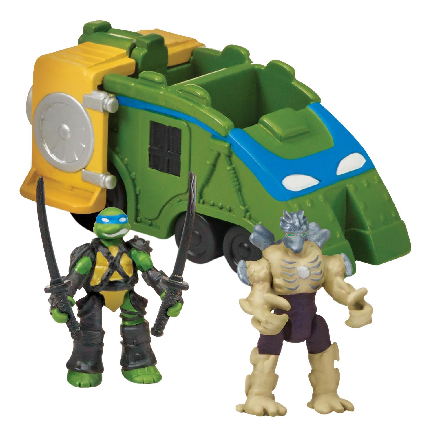 Боевой локомотив с фигурками Лео и Шредера Playmates Toys Черепашки ниндзя 87601 фото
