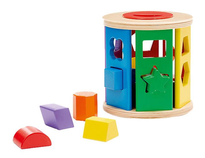 Купить Деревянная игрушка для малышей Барабан сортировщик Melissa and Doug, Melissa & Doug, Развивающие игрушки