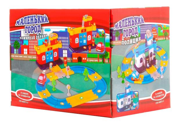 Купить Маленький город пожарная охрана 26 элементов, Конструктор Маленький город Пожарная охрана 26 элементов Zhorya Г52993, Конструкторы пластмассовые