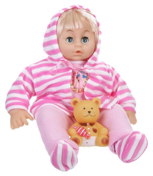 Кукла Shenzhen toys с мишкой в сумке 38 см Д36744