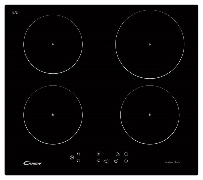 Встраиваемая варочная панель индукционная Candy CI 640 CB Black фото