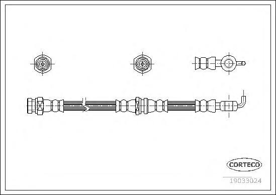 Шланг тормозной системы Corteco 19033024 фото