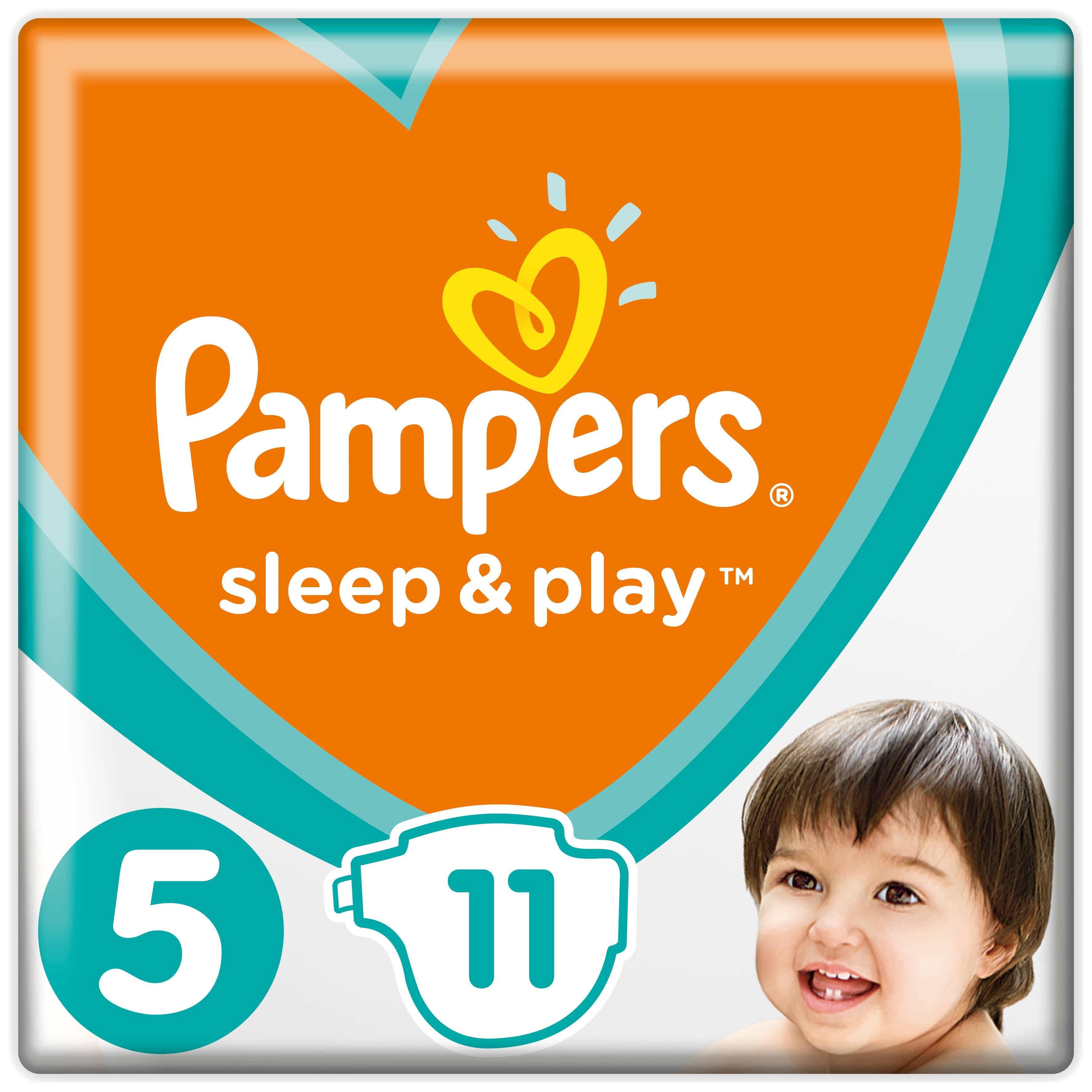 Купить Подгузники Pampers Sleep & Play 11-16 кг, 5 размер, 11 шт., Подгузники Pampers Sleep & Play Junior (11-16 кг) 11 шт.
