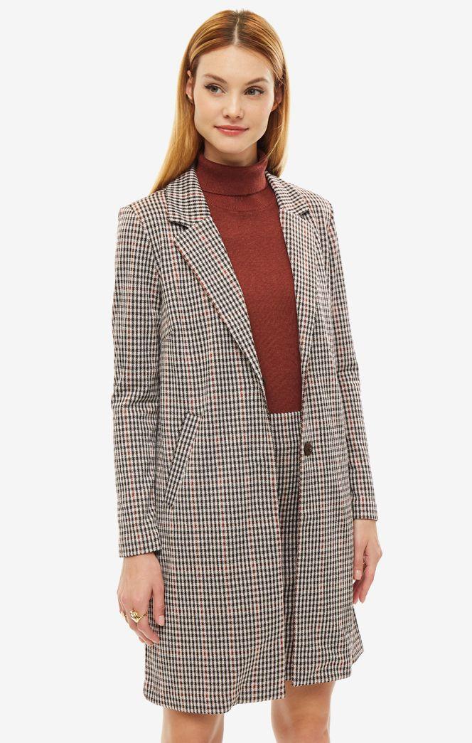 Пальто женское b.young коричневое