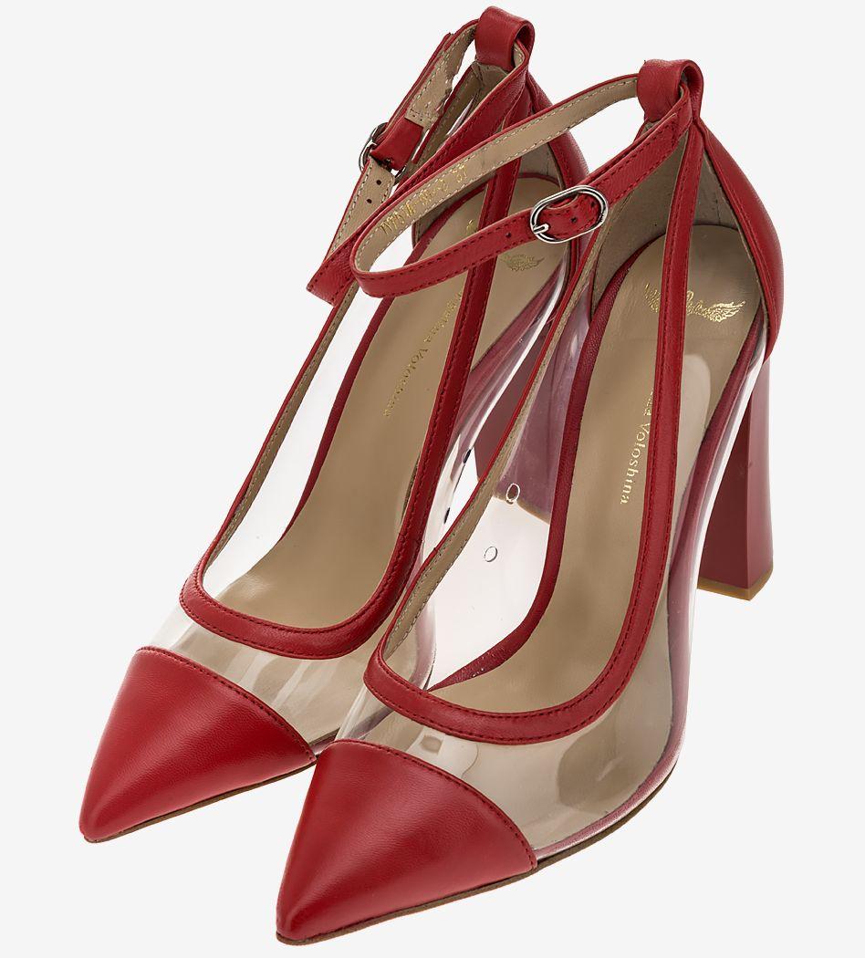 Туфли женские Angelina Voloshina красные