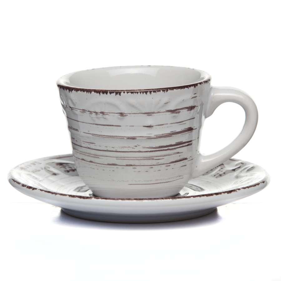 Чашка с блюдцем белые 110 мл