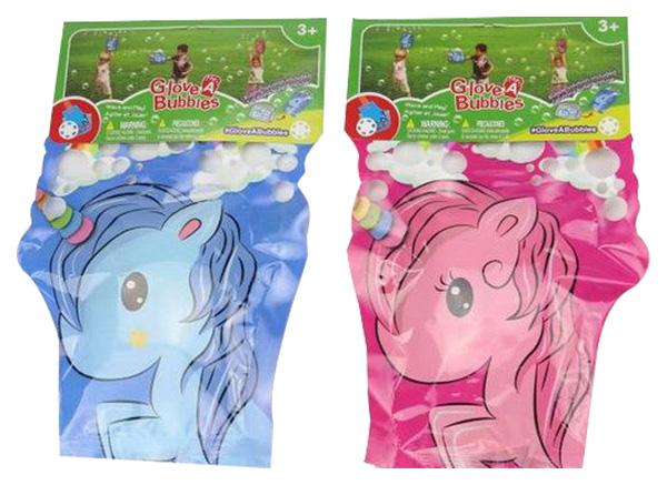 Купить Мыльные пузыри-перчатка Единорог 2 вида, 32х21х1 см, Junfa toys