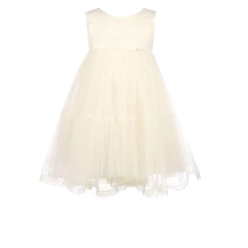 Купить 1572, Платье Ангел-кружево UNONA D'ART, цв. белый, 122 р-р, Платья для девочек