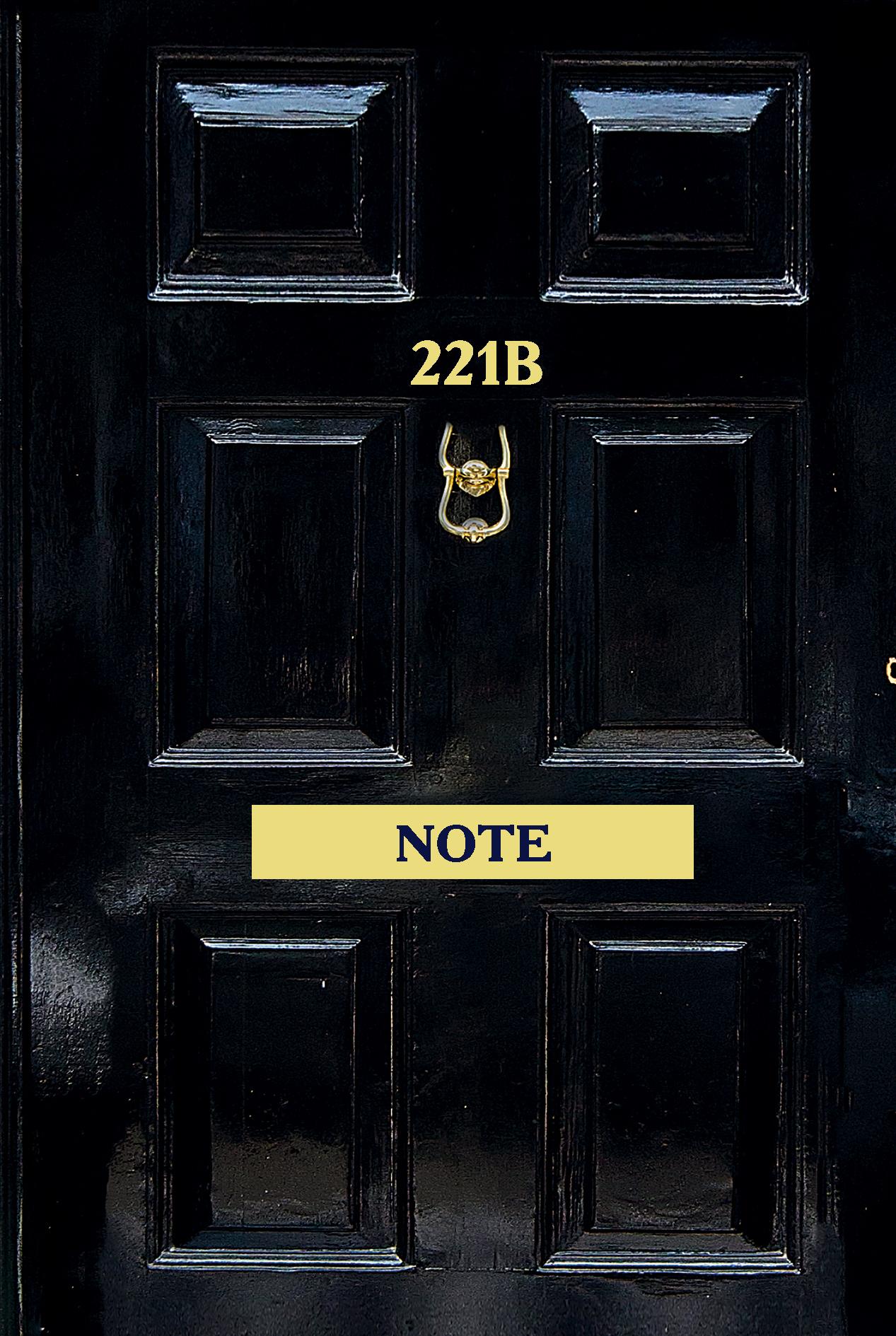 Шерлок, 221b Note, Стильный блокнот для поклонников великого сыщика (твердый переплет)
