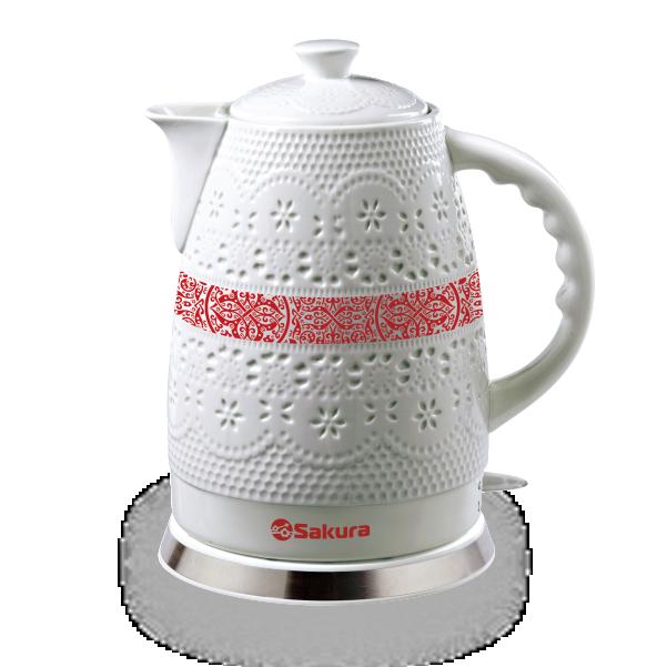 Чайник электрический Sakura SA 2028P 1 White/Orange